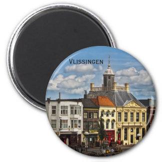 Vlissingen 01 6 cm round magnet