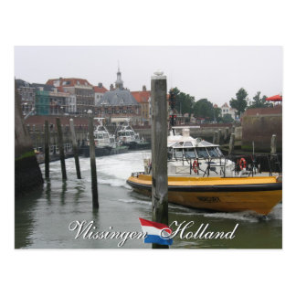 Vlissingen Pilot Boat Holland Postcard