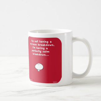 VM2818 vimrod nervous breakdown perfectly calm Basic White Mug