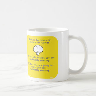 "VM8046, vimrod, ""you are amazing"", ""two kinds"" Basic White Mug"