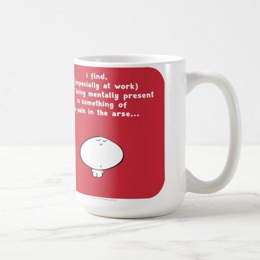 VM8630 Vimrod work mentally present Coffee Mugs