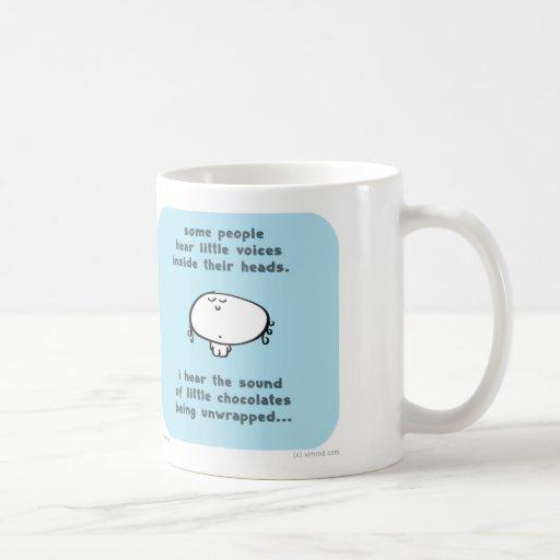 VM8639 vimrod little voices head chocolates unwrap Coffee Mugs