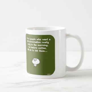 VM8645 vimrod early morning conversation coffee Basic White Mug
