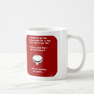 VM8658, vimrod, crazy person, act, weird, years Basic White Mug