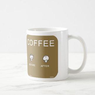 VM8696 vimrod coffee before after Classic White Coffee Mug