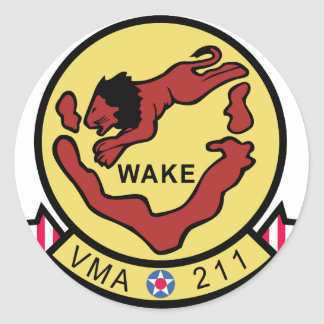 VMA-211 Wake Island Avengers Classic Round Sticker