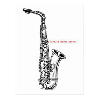 VMS Saxophone Postcard