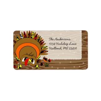 Vntage Font Thanksgiving Greeting Antique Postcard Label