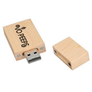 VO Peeps 8GB USB Flash Drive Wood USB 2.0 Flash Drive