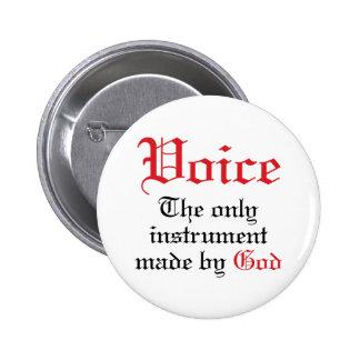 Vocal Gift For Singer 6 Cm Round Badge