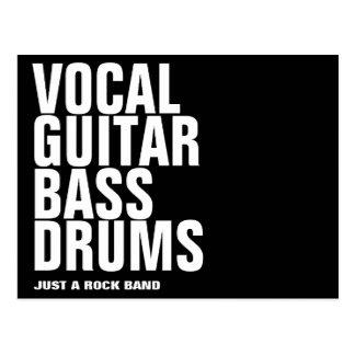 vocal, guitar, bass, drums... rock postcard