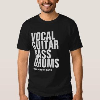 vocal, guitar, bass, drums... rock shirt