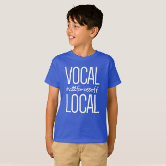 Vocal & Local #AllForOssoff -Kids' style BLUE T-Shirt