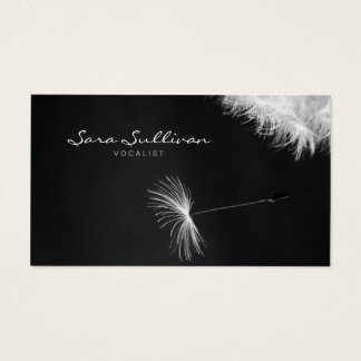 Vocalist Business Card Dandelion Closeup