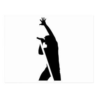 Vocalist Silhouette Postcard