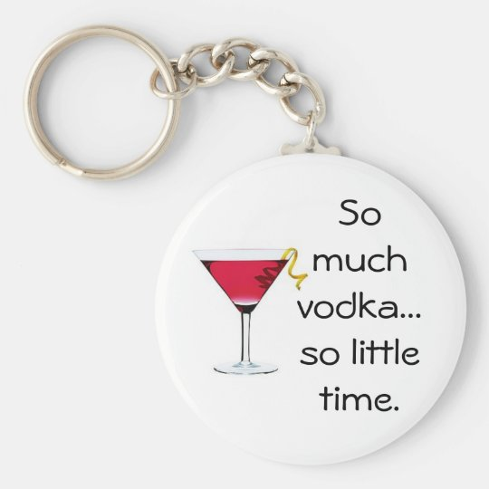 Vodka Basic Round Button Key Ring