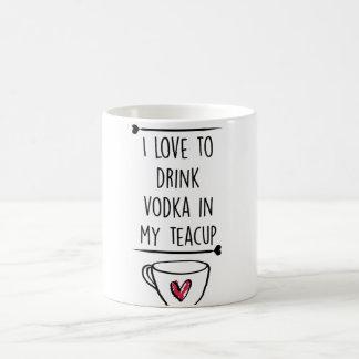 vodka cup classic white coffee mug