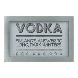VODKA custom color belt buckle