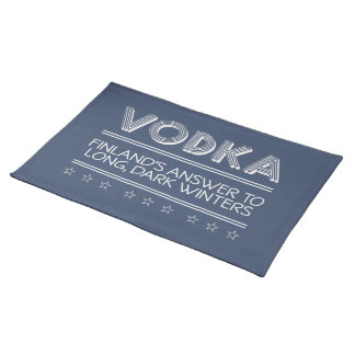 VODKA custom color placemats