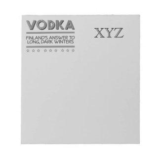 VODKA custom notepad