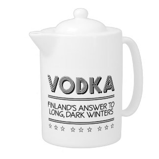 VODKA custom teapot