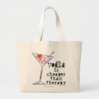 VODKA IS CHEAPER THAN THERAPY COCKTAIL TOTE