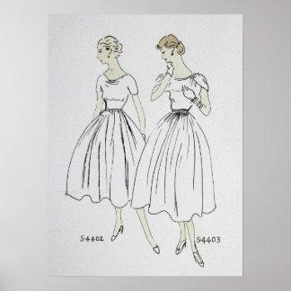 Vogue 1953 Poster