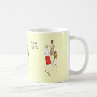 Vogue 1960s Blank Basic White Mug