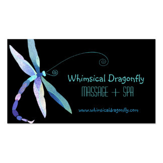 Voguish Dragonfly Massage + Spa Appointment Cards Pack Of Standard Business Cards