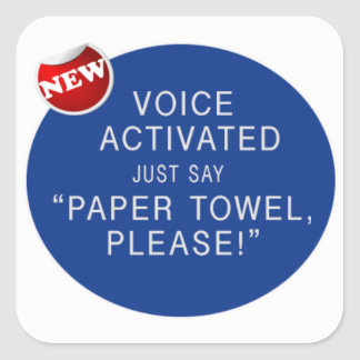 Voice Activated hand dryerl Prank Sticker