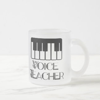 Voice Music Teacher Gift Frosted Glass Coffee Mug