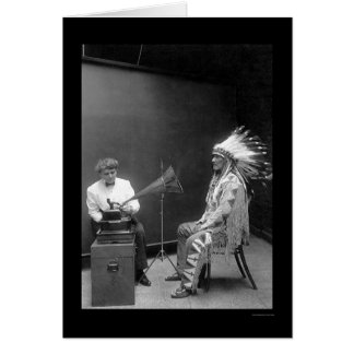Voice Recording of a Blackfoot Indian 1909 Card