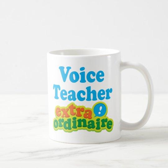 Voice Teacher Extraordinaire Gift Idea Coffee Mug