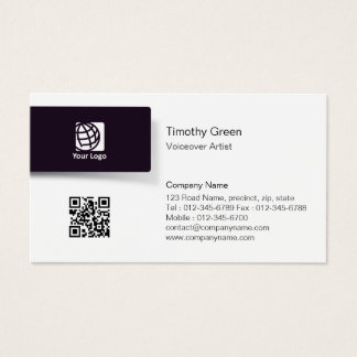 Voiceover Artist BlackTab Logo Simple BusinessCard Business Card