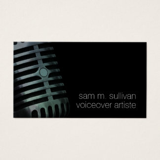 Voiceover Artiste Vintage Microphone Entertainment Business Card