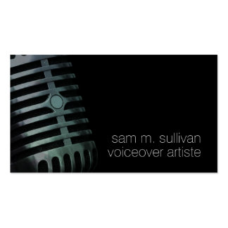 Voiceover Artiste Vintage Microphone Entertainment Pack Of Standard Business Cards