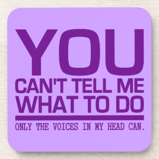 VOICES IN MY HEAD custom coasters