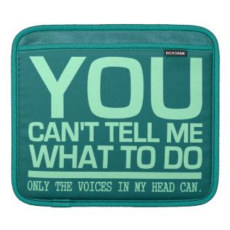 VOICES IN MY HEAD custom iPad sleeve