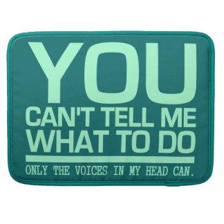 VOICES IN MY HEAD custom MacBook sleeve