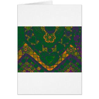 voilet green mosaic card