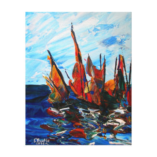 Voiliers au port a bainet 2009 canvas print