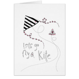 vol25 lets fly a kite greeting card