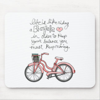 vol25 life is like riding a bicycle mouse mat