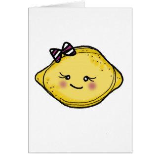 vol25 rosey cheeked lemon head greeting card