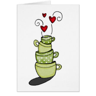 vol25- stacked to perfection greeting card