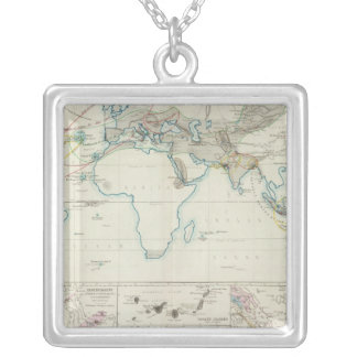 Volcanic action silver plated necklace