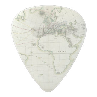Volcanic Activity Map Acetal Guitar Pick