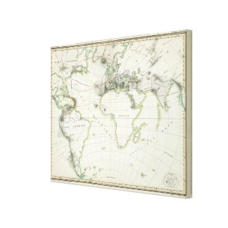Volcanic Activity Map Canvas Print