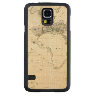 Volcanic Activity Map Carved Maple Galaxy S5 Case