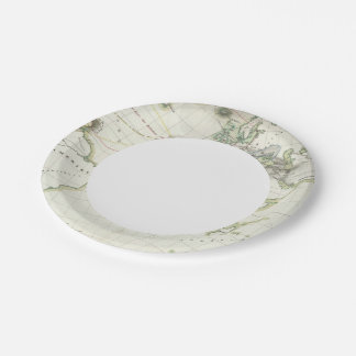 Volcanic Activity Map Paper Plate